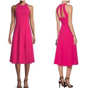 Halston Heritage Pink Cut Out Midi Dress NWT